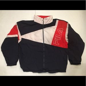 VTG 90s Fila Men's US 42 XL Jacket Spellout Jacket
